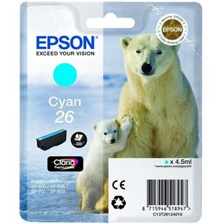 Epson Tinte 26 C13T26124022 cyan