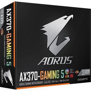 Gigabyte AORUS GA-AX370-Gaming 5 AMD X370 So.AM4 Dual Channel DDR4