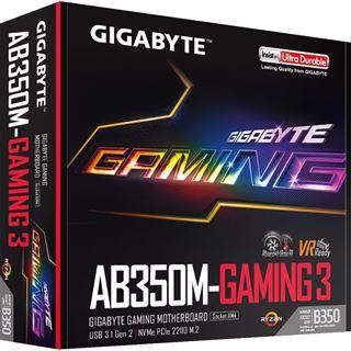 Gigabyte GA-AB350M-Gaming 3 AMD B350 So.AM4 Dual Channel DDR4 mATX