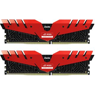 16GB TeamGroup T-Force Dark ROG rot DDR4-3000 DIMM CL16 Dual Kit