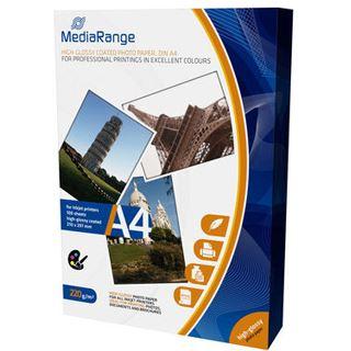 MediaRange Fotopapier A4 220gr weiß