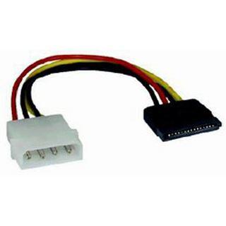 0.10m Mcab SATA Stromadapterkabel intern 4pol Stecker auf 15pol
