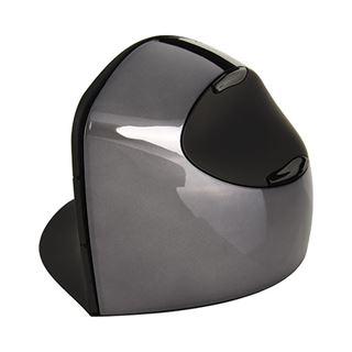Evoluent Vertical Wireless C USB schwarz/silber (kabellos)