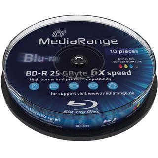 MediaRange BD-R 25GB 6x IW SP(10) BluRay Disc, Kapazität: 25GB