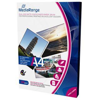 MediaRange Foto Papier matt coated A4 250g 50 Blatt Dual