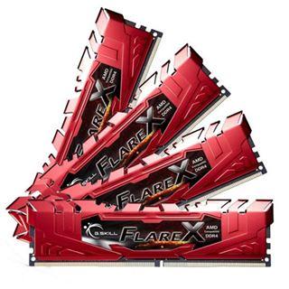 32GB G.Skill Flare X für AMD rot DDR4-2400 DIMM CL16 Quad Kit