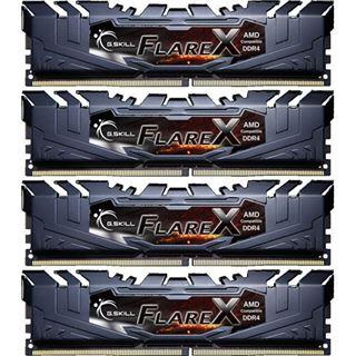 64GB G.Skill Flare X für AMD schwarz DDR4-2400 DIMM CL16 Quad Kit