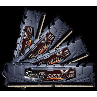 64GB G.Skill Flare X für AMD schwarz DDR4-2400 DIMM CL15 Quad Kit