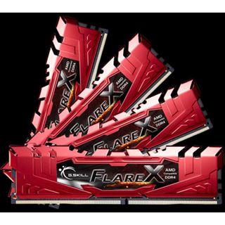 64GB G.Skill Flare X für AMD rot DDR4-2400 DIMM CL15 Quad Kit