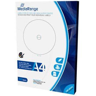MediaRange Etiketten für CD/DVD/BD 100er Pack