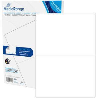 MediaRange Etiketten 210x148,5mm 100 Stück weiß