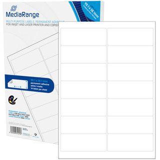 MediaRange Etiketten 99,1x38,1mm 700 Stück weiß