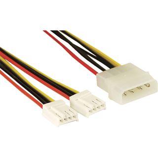 (€19,50*/1m) 0.20m InLine Stromkabel Adapter Molex-Stecker auf
