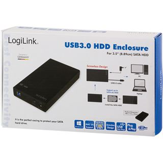 "Logilink USB 3.0 3,5"" Extern screwless schwarz"