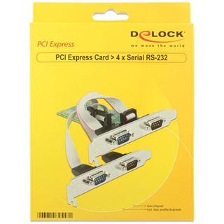 Delock PCI Expr Card 4x D-Sub9 (je 2 auf Slotblech)