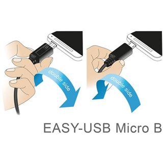 3.00m Delock USB2.0 Anschlusskabel Easy USB A Stecker auf USB Micro-B
