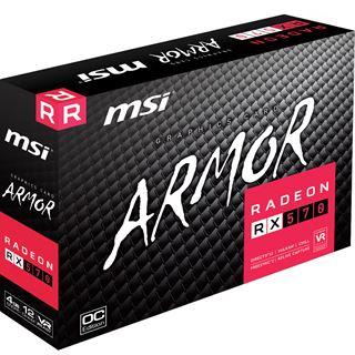 4GB MSI Radeon RX 570 Armor 4G OC Aktiv PCIe 3.0 x16 (Retail)