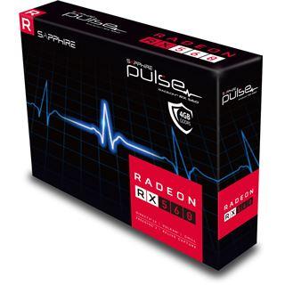 4GB Sapphire Radeon RX 560 16CU Pulse 4GD5 Aktiv PCIe 3.0 x16 (Retail)