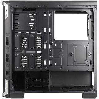 Cooltek NC-02 mit Sichtfenster Midi Tower ohne Netzteil schwarz/silber