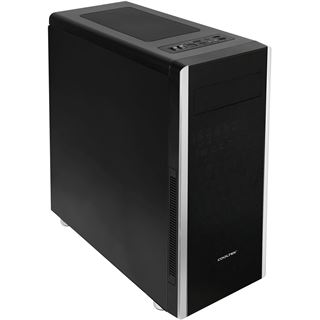 Cooltek NC-01 Midi Tower ohne Netzteil schwarz/silber