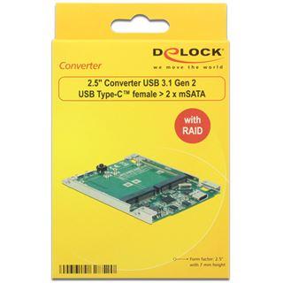 "Delock 62852 2.5"" (6,35cm) USB 3.1 Typ C silber"