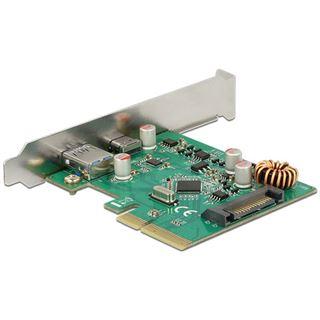 Delock PCI Expr Card 4x Karte 1x USB C + 1x USB3.1 ext.