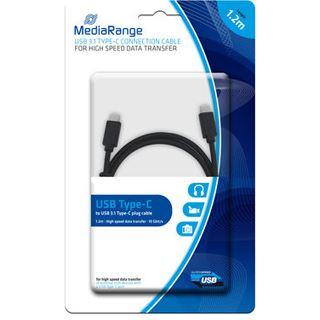 1.20m MediaRange USB3.1 Anschlusskabel doppelt geschirmt USB C