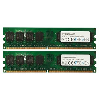 4GB V7 DDR2-800 DIMM CL6 Dual Kit