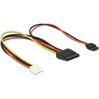 0.24m Delock Strom Adapterkabel 4pol Buchse Floppy auf SATA Strom