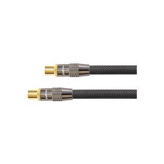 (€1,30*/1m) 30.00m PYTHON SAT Antennenkabel Premium Koax Stecker