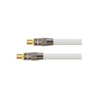 (€2,18*/1m) 5.00m PYTHON SAT Antennenkabel Premium Koax Stecker