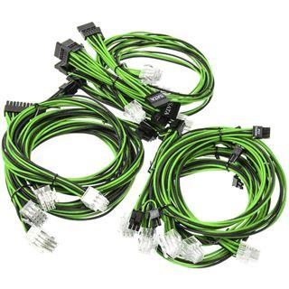 Super Flower Sleeve Cable Kit schwarz/grün