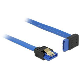 0.30m Delock SATA 6Gb/s Anschlusskabel gewinkelt oben SATA Buchse auf