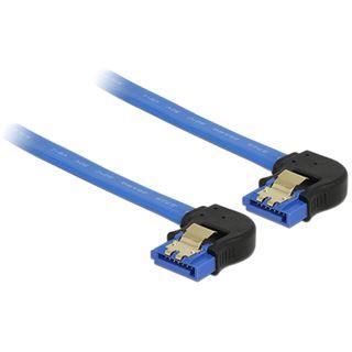 0.10m Delock SATA 6Gb/s Anschlusskabel gewinkelt unten SATA Buchse