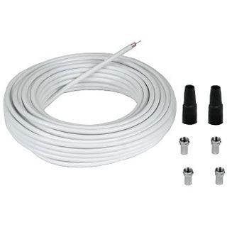 (€0,65*/1m) 20.00m Hama SAT Anschlusskabel 2x F-Stecker auf 2x