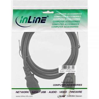 (€2,30*/1m) 3.00m InLine Stromkabel Stecker USA auf