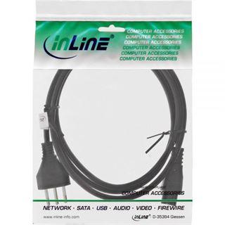 (€2,45*/1m) 2.00m InLine Stromkabel Stecker Italien auf IEC 320