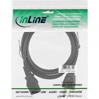 (€4,90*/1m) 1.00m InLine Stromkabel Stecker USA auf