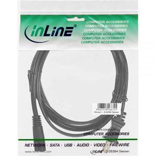 (€7,80*/1m) 0.50m InLine Stromkabel Stecker USA auf Euro 8