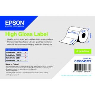 Epson Hochglanz Label