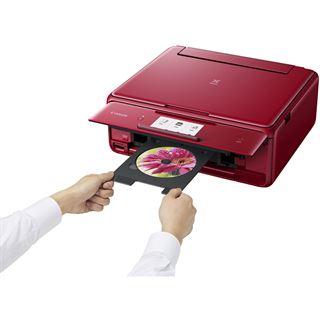 Canon PIXMA TS8052 Tintenstrahl-Multifunktionsgerät rot inkl.