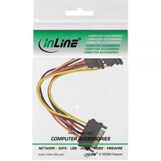 (€23,00*/1m) 0.30m InLine SATA Y-Stromadapterkabel SATA Strom