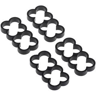 Alphacool Eiskamm Alu X8 - 4mm - 4 Stück schwarz