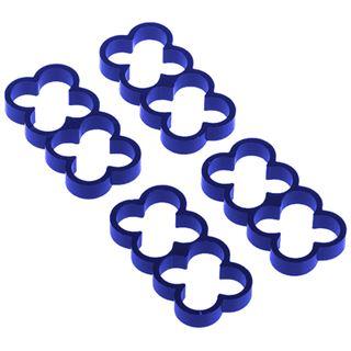 Alphacool Eiskamm Alu X8 - 4mm - 4 Stück blau