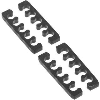 Alphacool Eiskamm X5 Flat - 3mm - 4 Stück schwarz