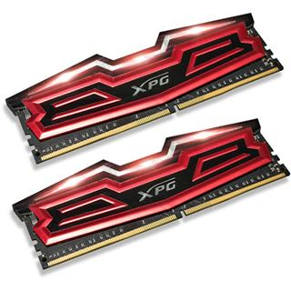 32GB ADATA XPG Dazzle LED rot/schwarz DDR4-2400 DIMM CL16 Dual Kit
