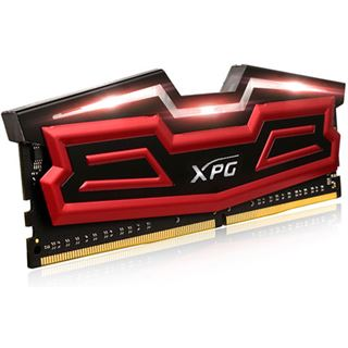 32GB ADATA XPG Dazzle LED rot/schwarz DDR4-2800 DIMM CL17 Quad Kit