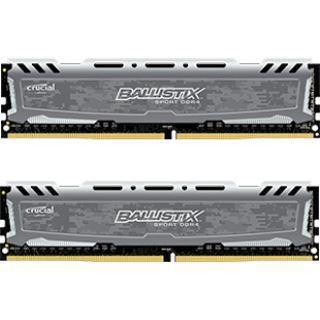 8GB Crucial Ballistix Sport LT Single Rank grau DDR4-2400 DIMM CL16