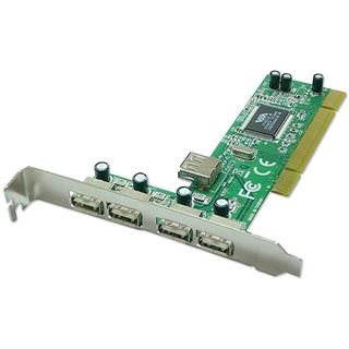 Lindy USB 2.0 PCI-Karte, 4+1 Port VIA Chipset
