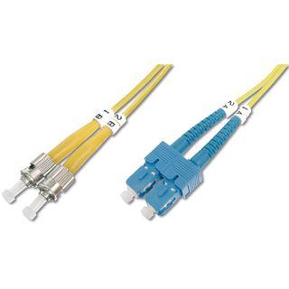 7.00m Digitus LWL Duplex Anschlusskabel 9/125 µm OS2 ST Stecker